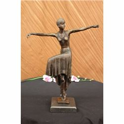 Turkish Dancer by~Chiparus~Art Nouveau Marble Base Hot Cast Sculpture Figurine