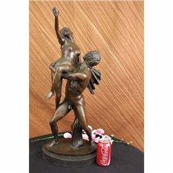 Signed Extra Large two Skilled Dance Partners Bronze Marble Sculpture