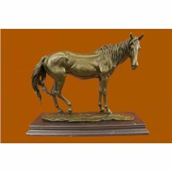 Extra Large Lean Racing Horse by Mene OTB Trophy Collectible Bronze Statue