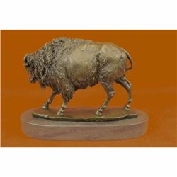 Hot Cast Signed Barye Buffalo Bronze Museum Quality Masterpiece Sculpture Statue