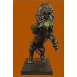 Hot Cast Modern Art Abstract African Lion Wildlife Bronze Sculpture Sale Gift