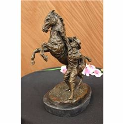 Bronze Statue Man w/ Horse Marly Horse LARGE Sculpture Figure Home Decoration