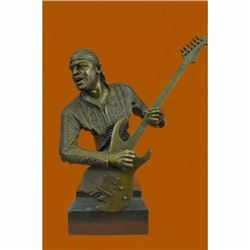 Extra Large Jimmy Hendrix playing his Guitar Handcrafted Collectible Sculpture