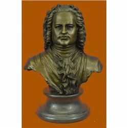 14 Bronze ART Johann Sebastian Bach The father of music head statue Sculpture