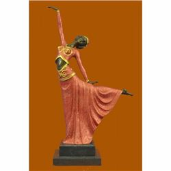 Signed D.H.Chiparus bronze statue, art deco dancer sculpture hand Made Figurine