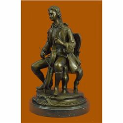 Large size Man playing music statue with musical instruments cello Player Bronze