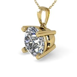 2 CTW Certified VS/SI Diamond Necklace 14K Yellow Gold - REF-960K2R - 38429
