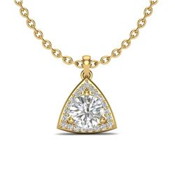 1.50 CTW VS/SI Diamond Certified Necklace 18K Yellow Gold - REF-385F8M - 20525