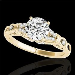 1.2 CTW H-SI/I Certified Diamond Solitaire Ring 10K Yellow Gold - REF-156T4X - 35252