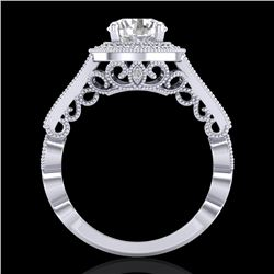 1.91 CTW VS/SI Diamond Art Deco Ring 18K White Gold - REF-543W6H - 36974