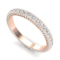 2.50 CTW VS/SI Diamond Art Deco Eternity Mens Band Size 10 18K Rose Gold - REF-200H2W - 37209