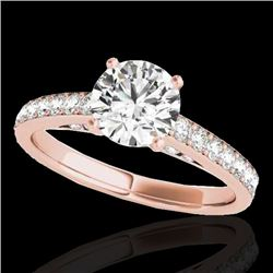 1.5 CTW H-SI/I Certified Diamond Solitaire Ring 10K Rose Gold - REF-172T8X - 34863
