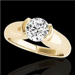 1 CTW H-SI/I Certified Diamond Solitaire Ring 10K Yellow Gold - REF-207R3K - 35175