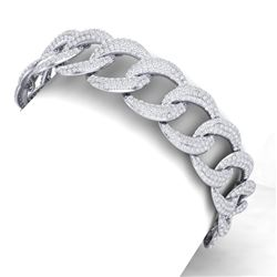 10 CTW Certified VS/SI Diamond Bracelet 18K White Gold - REF-736T4X - 40067