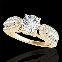 1.7 CTW H-SI/I Certified Diamond Solitaire Ring 10K Yellow Gold - REF-180X2T - 35261