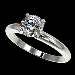1.28 CTW Certified H-SI/I Quality Diamond Solitaire Engagement Ring 10K White Gold - REF-245M5F - 36
