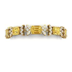 35.21 CTW Royalty Canary Citrine & VS Diamond Bracelet 18K Yellow Gold - REF-356R4K - 39404
