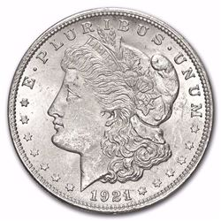 1921 Morgan Silver Dollar BU MS-63