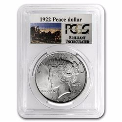 1922 RARE Stage Coach Series Peace Silver Dollar BU PCGS Graded in slab