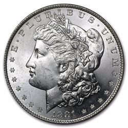 1881-S Morgan Silver Dollar BU MS-63