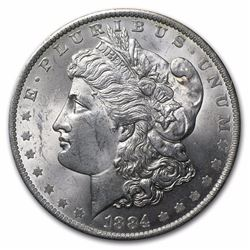1884-O Morgan Silver Dollar BU MS-63