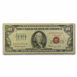 1966 $100 U.S. Note Red Seal VF