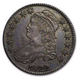 1822 Capped Bust Half Dollar AU-58 Almost 200 Years Old
