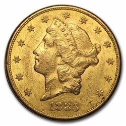 1883-S $20 Liberty Gold Double Eagle BU 134 YEAR OLD GOLD COIN