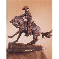 "Frederick Remington ""Cowboy"" Pure Bronze Sculpture Handmade in the USA 13""x10""x5"""