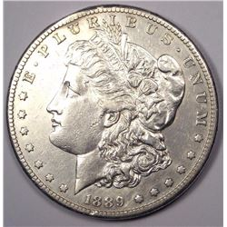 1889-CC Morgan Silver  Dollar AU-58 RARE KEY DATE! ONLY 350,000 MINTED