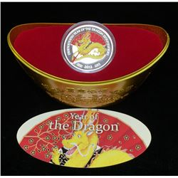 2012 Niue $2 Year of the Dragon Coloured Proof