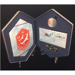 2006 $5 Canadian Forces Snowbirds Silver Coin & Stamp Set