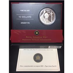 2005 $10 Pope John Paul II Visit To Canada