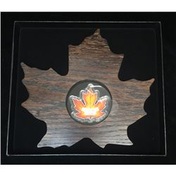 2015 $20 The Canadian Maple Leaf (Coloured) - Maple Leaf Shape