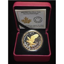 2014 $20 Perched Bald Eagle Gold-Plating