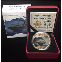 2014 $20 Lost Ships in Canadian Waters: R.M.S. Empress of Ireland