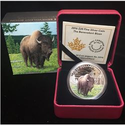 2016 $20 Majestic Animals The Benevolent Bison