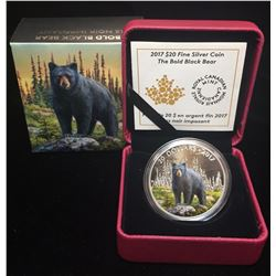 2017 $20 Majestic Animals The Bold Black Bear