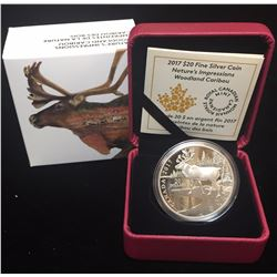2017 $20 Nature's Impressions Woodland Caribou