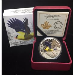 2016 $20 The Migratory Birds Convention 100 Years of Protection The American Goldfinch