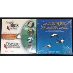 Lot of 3 Sterling Silver 50-Cents Birds of Prey and Canada Proof Coins