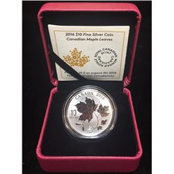 2016 $10 Canadian Maple Leaves