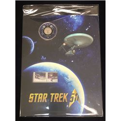 2016 25-Cent Star Trek Enterprise Coloured Coin and Stamp Set