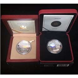 Lot of 2 - $20 Natural Wonders Hologram Fine Silver Coins