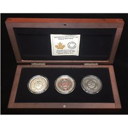 2015 $25 Singing Moon Mask Ultra High Relief 3-Coin Set