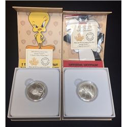 Lot of 2 - 2015 $10 Looney Tunes Tweety & Sylvester