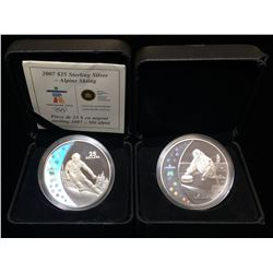 Lot of 2 2007 $25 Vancouver Olympics Coins