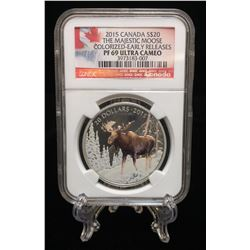 2015 $20 The Majestic Moose NGC PF 69 Ultra Cameo Early Releases