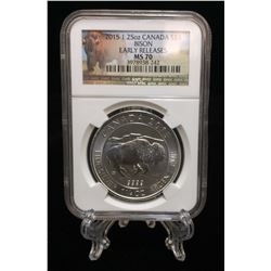 2015 1.25oz $8 Bison NGC MS 70 Early Releases