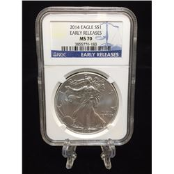 2014 $1 American Silver Eagle NGC MS 70 Early Releases